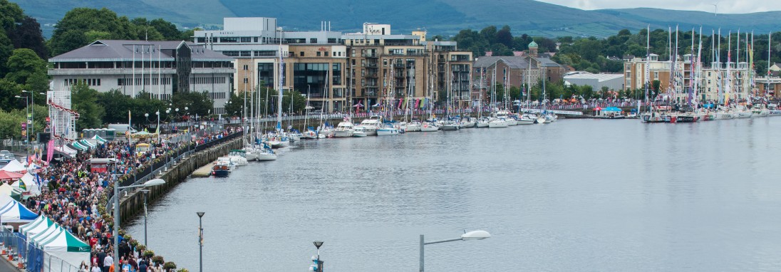 The Quay along the River Foyle where the Maritime Festival is under way as the Clipper Round The World Yacht Race is stopping over for the third time which includes the yacht Derry-Londonderry-Doire. Picture Martin McKeown. Inpresspics.com. 10.07.16