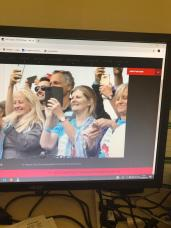 A screen shot from yesterday's live stream of Race Start from London - captured by friends on BOTH sides of the Atlantic!