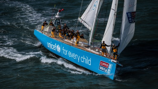 The Clipper Round the World Race fleet leaving gosport for the race start in London.